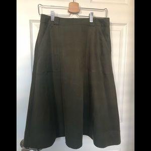 Olive Green midi skirt